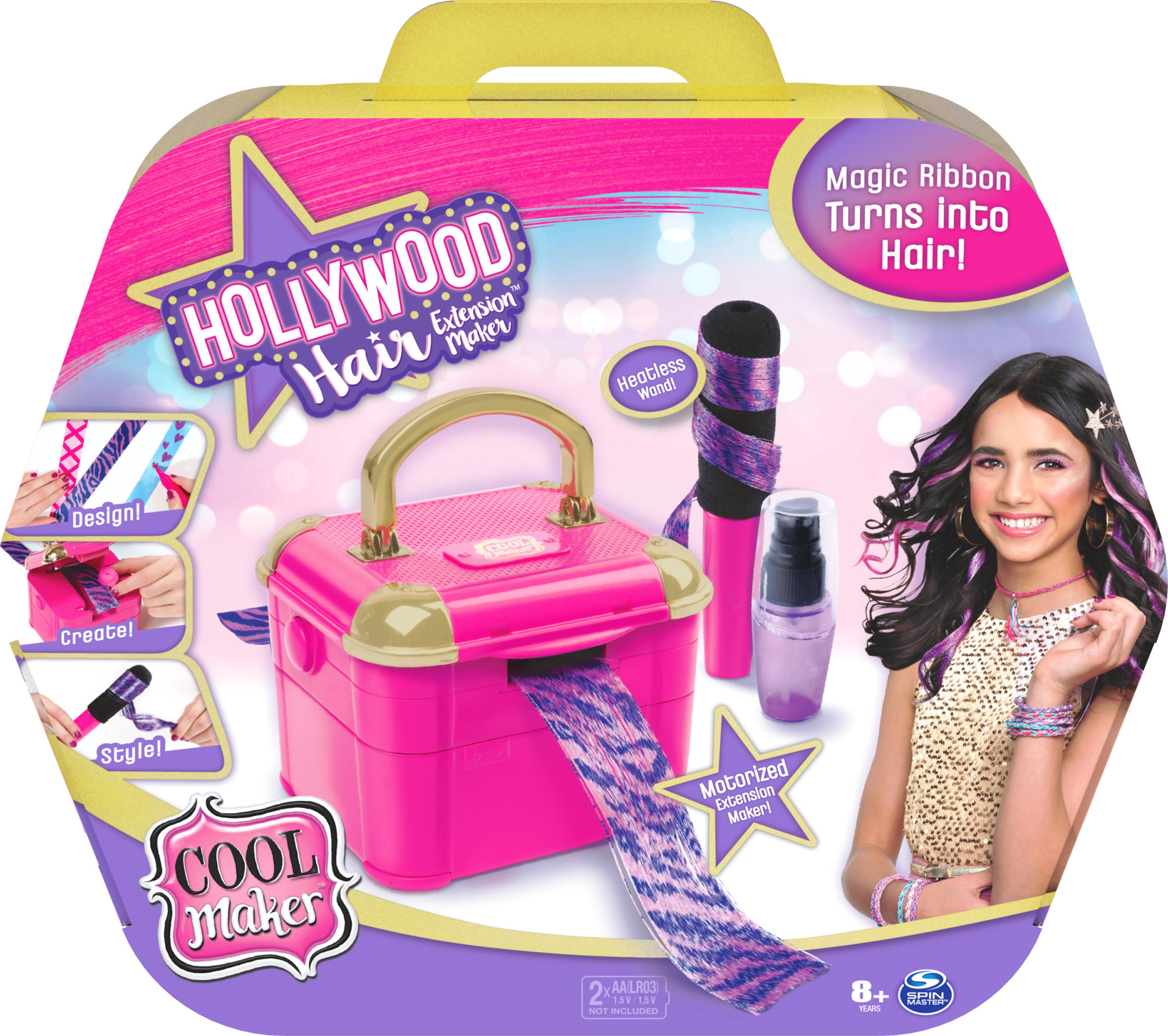 Cool Maker, Hollywood Hair Extension Maker with 12 Customizable Extensions and Accessories, for Kids Aged 8 and up - Walmart.com