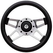 GRANT 415 Challenger Steering Wheels, Silver Satin