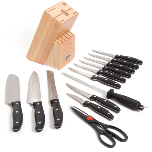 Oster Collieston 14-Piece Cutlery Set with Block