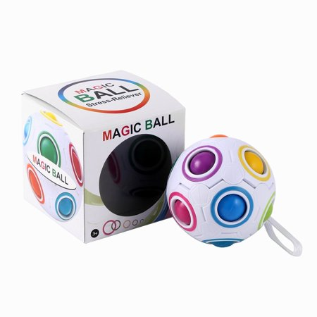 (Magic Rainbow Ball Magic Cube Toy Kids Child Educational Toys Stress Reliever)