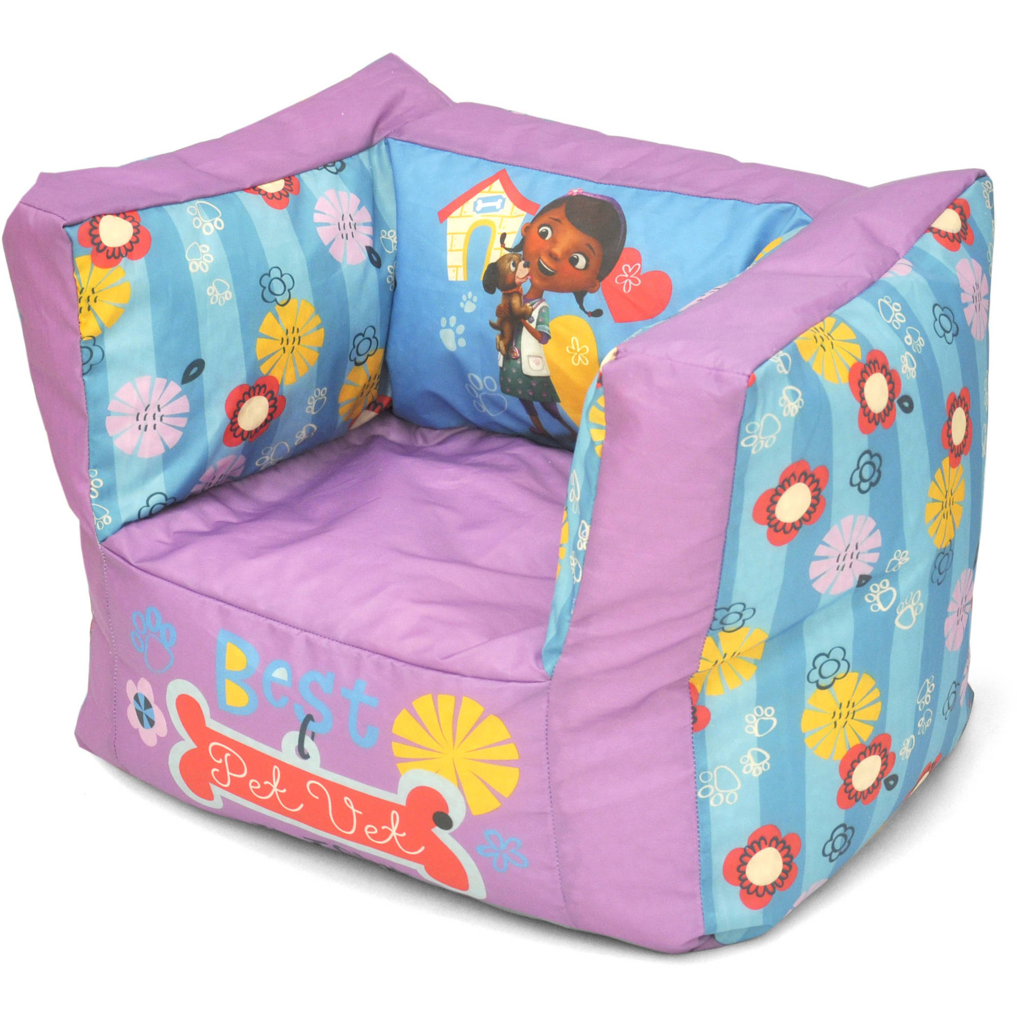 NEW! Doc McStuffins Square Bean Bag Chair (FREE 2 DAY ...