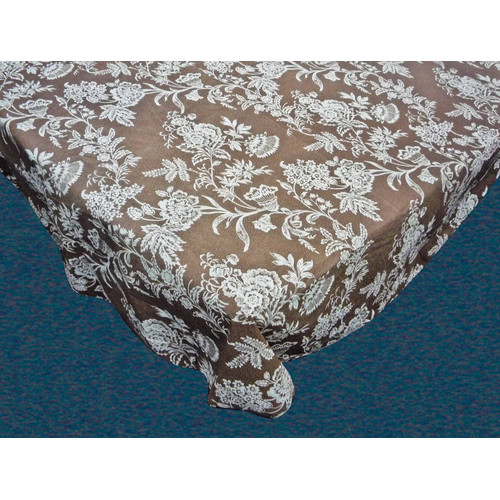 UPC 071821200726 Product Image For Carnation Home Fashions Floral Cheer Flannel  Backed Tablecloth | Upcitemdb.