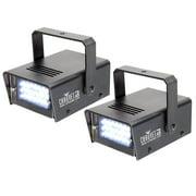 Chauvet LED Mini Strobe Manual Adjust LEDs DJ Club Light Effects (Pair)   CH-730