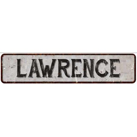 LAWRENCE Street Sign Rustic Chic Sign Home man cave Decor Gift White M41805437](The Cave Lawrence Halloween)