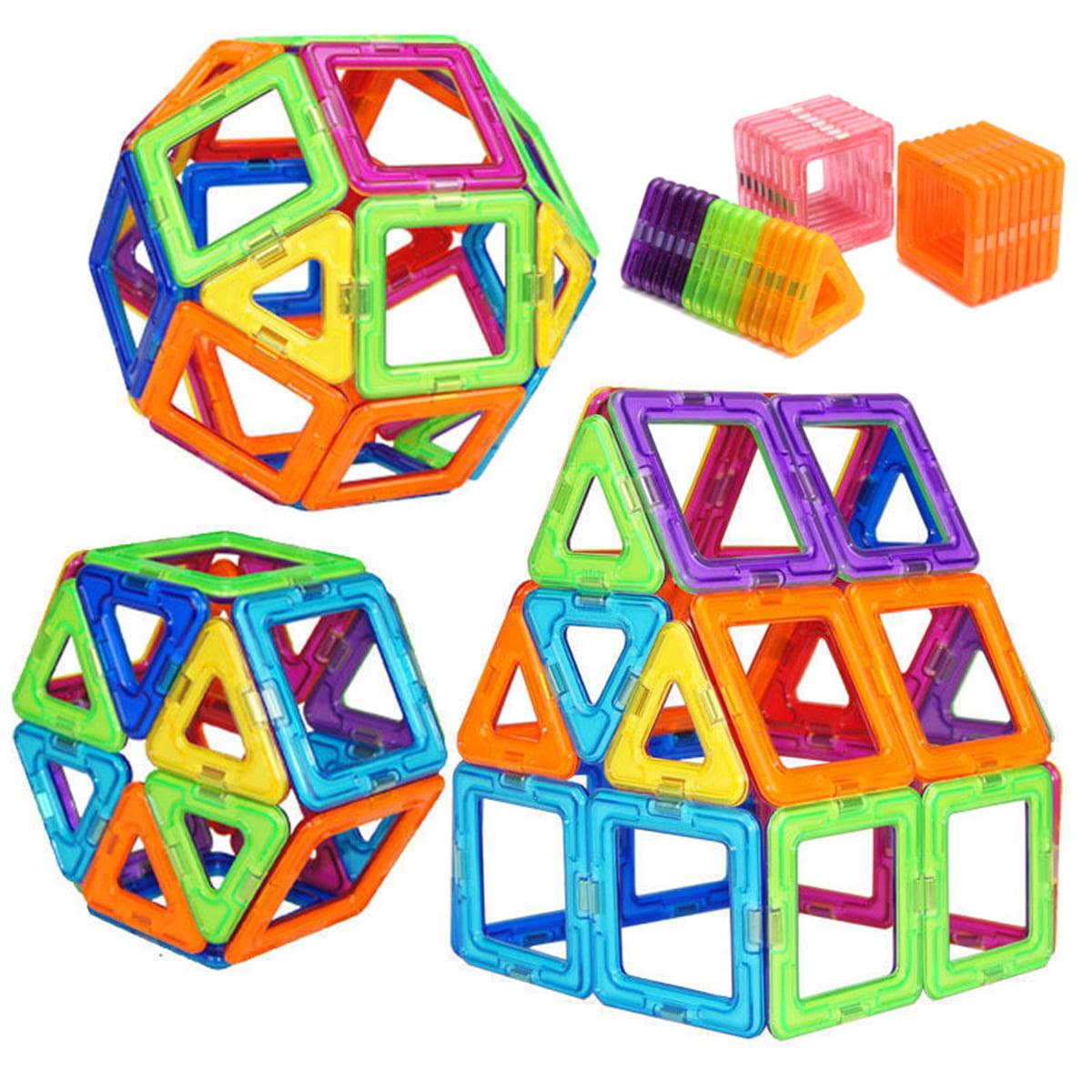 32 Piece Magnetic Bricks Building Blocks Tiles Kids Children Educational Toy Set by