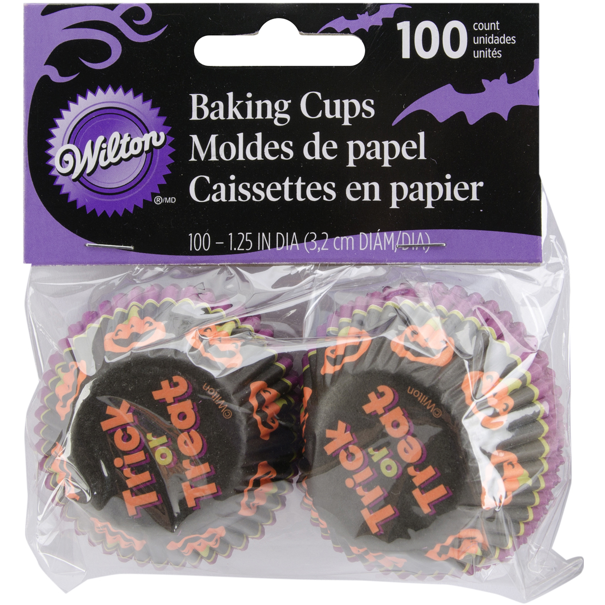 Mini Baking Cups-Stripe Pumpkin 100/Pkg