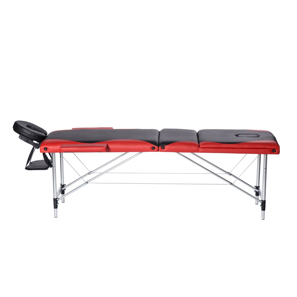 3 Fold Aluminium Alloy Massage Table Facial SPA Bed Profe...
