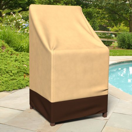 Image of Budge Industries All-Seasons 28 x 27 in. Outdoor Patio Stack of Chairs Cover / Barstool Cover
