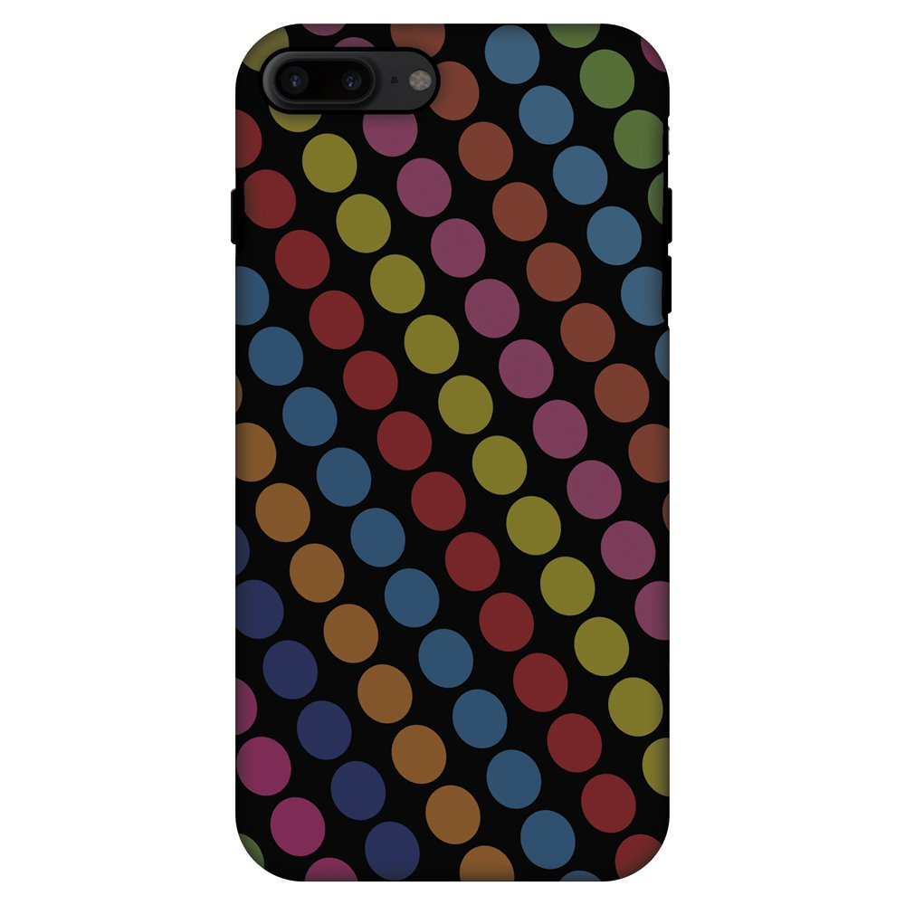 iPhone 7 Plus Case, Premium Handcrafted Printed Designer 2 in 1 Dual Layer ShockProof Case Back Cover for iPhone 7 Plus - Funky Dot Stripes