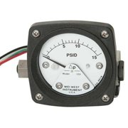MIDWEST INSTRUMENT 120-AA-00-O(CA)-5P Pressure Gauge,0 to 5 psi