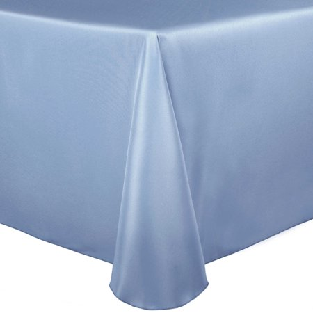 Ultimate Textile Bridal Satin 52 x 70-Inch Oval Tablecloth
