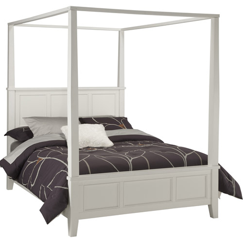 Home Styles Naples King Canopy Bed, White