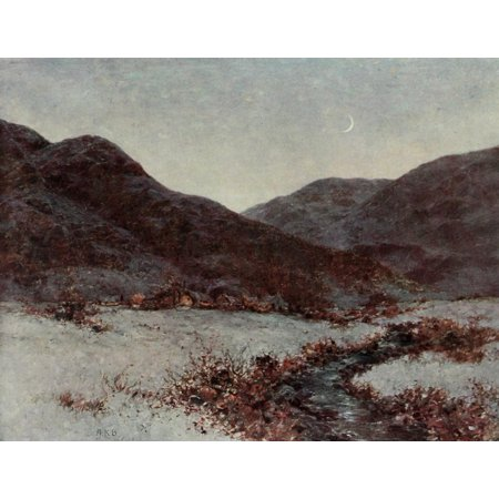 Posterazzi Royal Scottish Academy 1907 Frost in the air Canvas Art - A Kellock Brown (24 x
