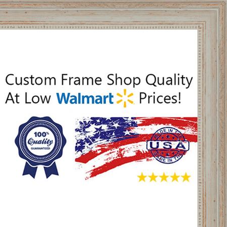 10x13 Weathered White Ornate Frame w/ a Beaded Lip - \'River Wash ...