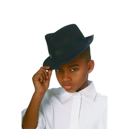 Black Durashape Fedora Child Hat](Kid Fedora)