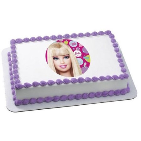 Barbie Edible Frosting Image Cake Topper 1/4 sheet ...