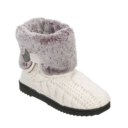 Women's Dearfoams Cable Knit ... Boot with Plush Cuff footaction for sale prices online Md4Asdy