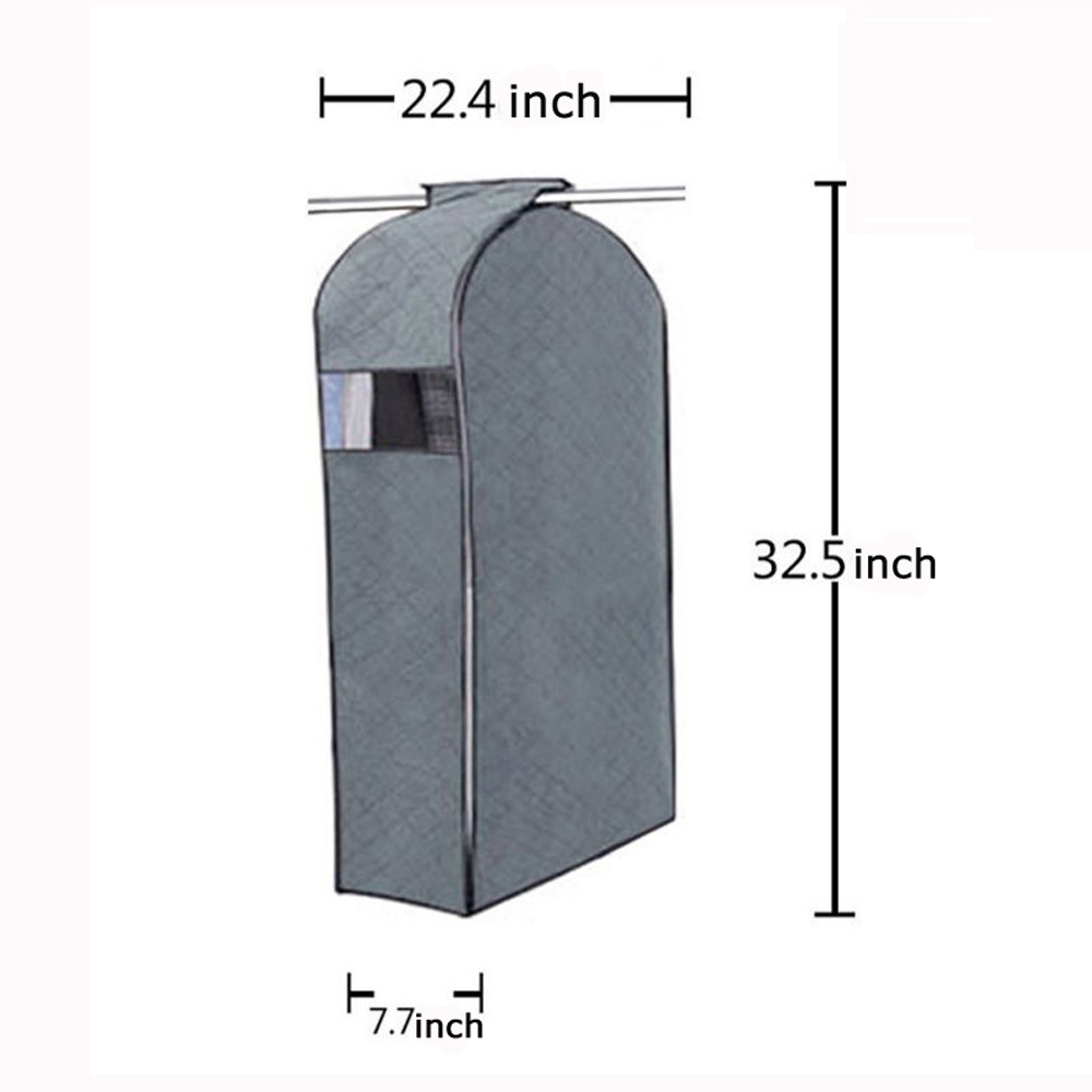 iclover garment protector bag breathable bamboo charcoal dustproof dampproof wardrobe closet storage organizer bag suit