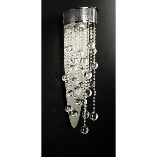 PLC Lighting Baotian 1-Light Wall Sconce in Polished Chrome