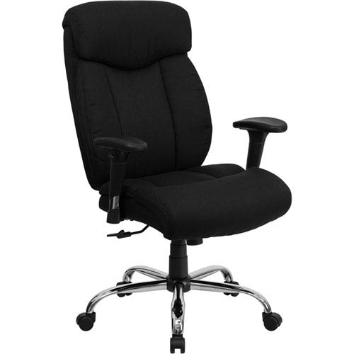 Series 400 lb. Capacity Big and Tall Black Fabric Executive Swivel Office Chair with Height Adjustable Arms