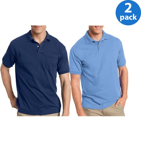Hanes Mens Polo, 2 Pack Bundle For $13