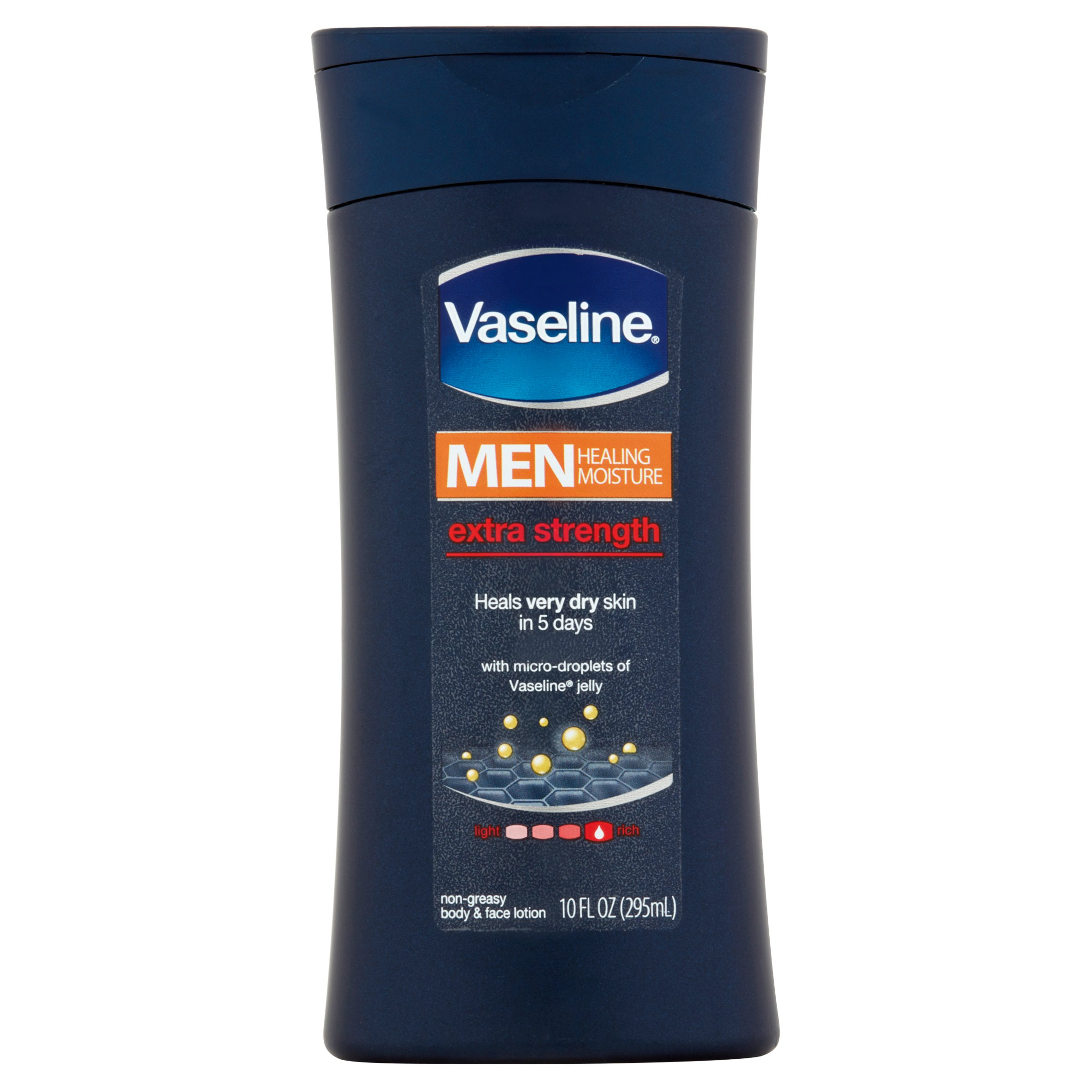 Vaseline Men Healing Moisture Extra Strength Body and Face Lotion 10 oz