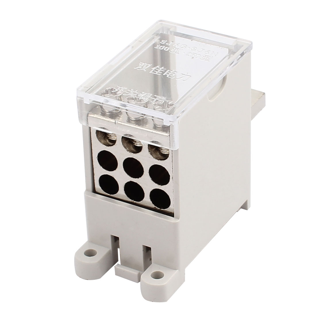 100-Type Wire Terminal Block 1 Inlet 9 Outlet for Miniature Circuit Breakers