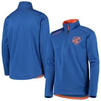 FC Cincinnati Youth Unlock Quarter-Zip Pullover Jacket - Blue