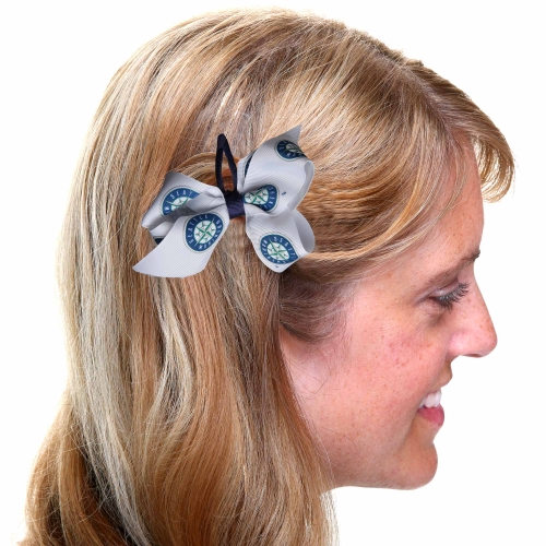 Seattle Mariners Women's Team Logo Hair Bow - No Size