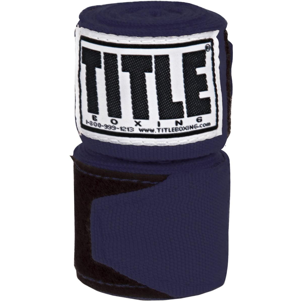 "Title Boxing 120"" Semi Elastic Handwraps - Navy"