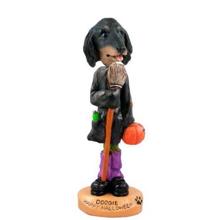 Dachshund Longhaired Black  Happy Halloween Doogie Collectable Figurine](Happy Halloween Dachshund)