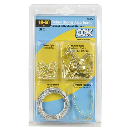 Ook 59204 50-Piece Assorted Picture Hanging Kit, 10-50 LB Load (Ook Picture Hanging)