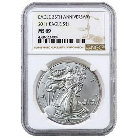 2011 American Silver Eagle NGC MS-69 1 oz Coin