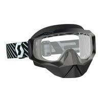 Scott Hustle X Snowcross Goggles Black/White/Clear