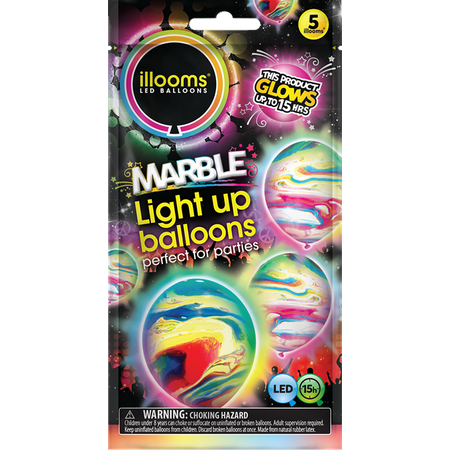 Illoom Balloons Marble 5 Pack - Balloon With Name On It