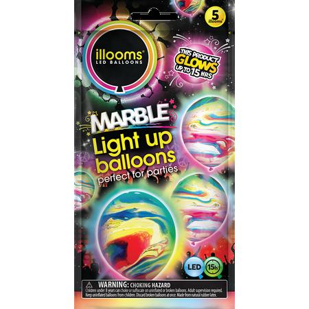 Illoom Balloons Marble 5 Pack - Fireman Balloons