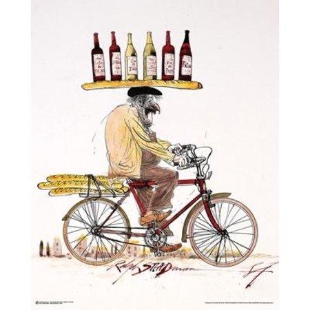 Ralph Steadman - Wine Poster Poster Print