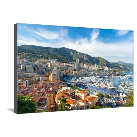 View of Monaco Harbor Prepared for Formula 1 Grand Prix De Monaco Stretched Canvas Print Wall Art By (Best Way To Prepare Formula For The Day)