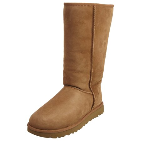Ugg Women's Classic Tall II Leather Chestnut Mid-Calf Suede Boot - 8M - Walmart.com