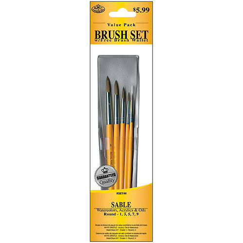 Royal Brush Brush Set Value Pack, Sable, 5-Pack, Round