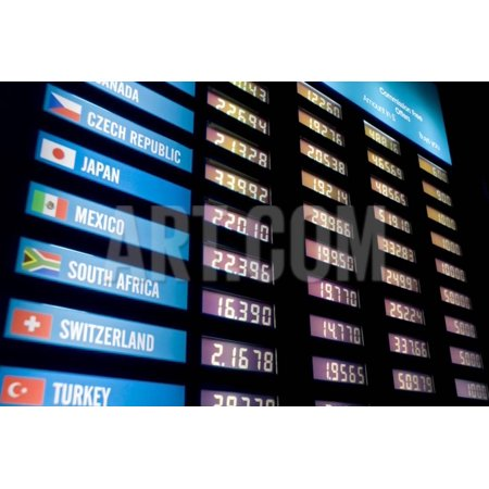 Currency Exchange Rate Board Print Wall Art By