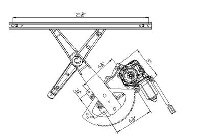 New Front Right Window Regulator Fits 95 01 Ford Explorer Sport Trac