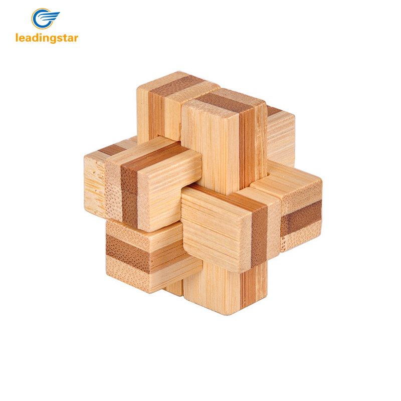 3D Puzzle Wooden Kongming Lock Disentanglement Trick Toy for Kids Adults
