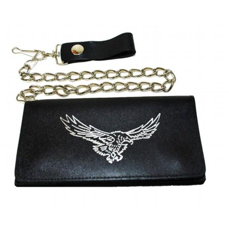 LICWB9-E-04 Trifold Chain Wallet 7 x 3.5 in. Silver Soaring Eagle - image 1 of 1