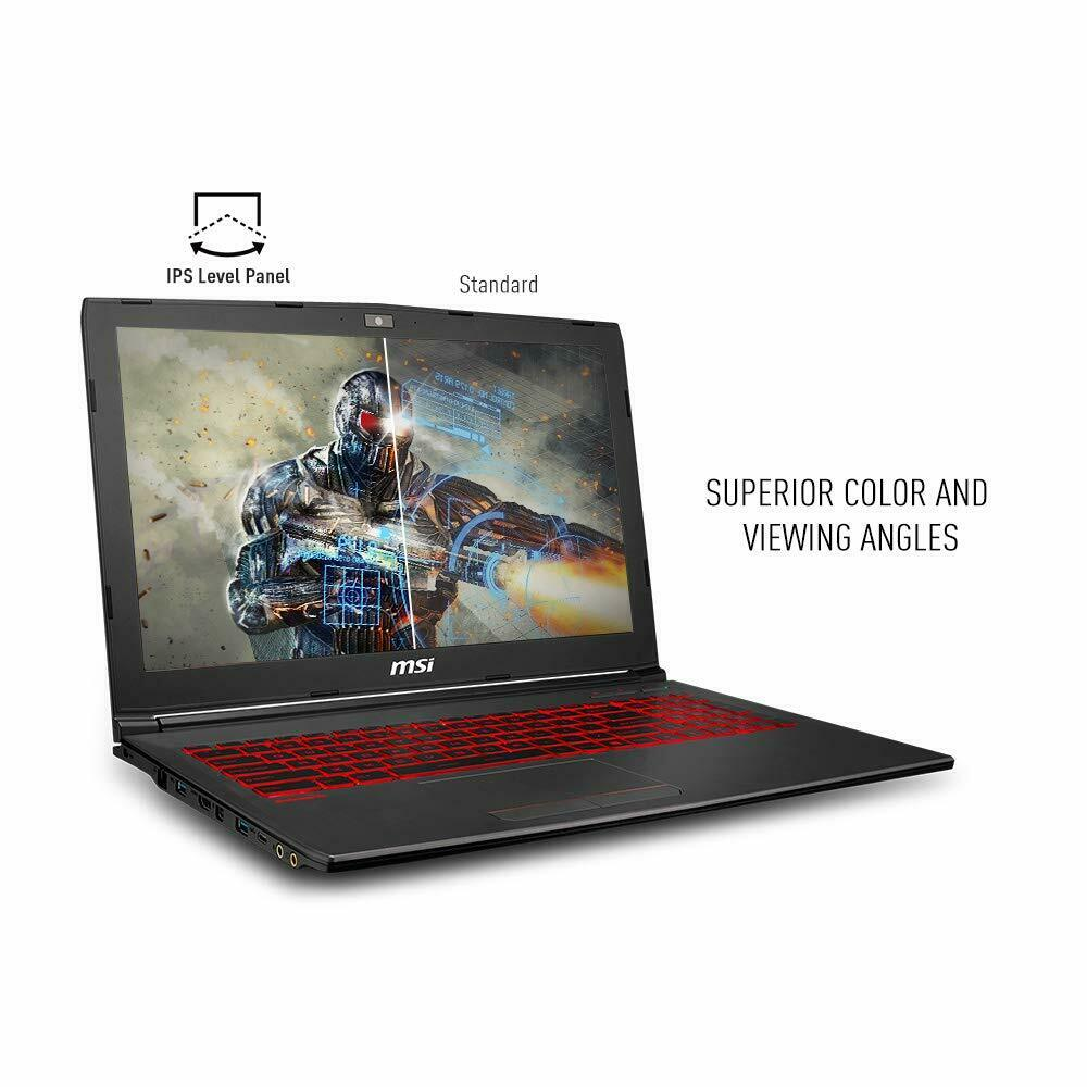 "MSI GV62 8RD-275 15.6"" Performance Gaming Laptop NVIDIA GTX 1050Ti 4G, Intel Core i5-8300H, 8GB, 256GB NVMe SSD, Red Backlit KB, Win 10 Home, Aluminum Black Notebook PC Computer"