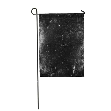 SIDONKU Scratch Scary Grunge Dark Scratched Old Halloween Black White Dirt Abstract Horr Garden Flag Decorative Flag House Banner 12x18 inch