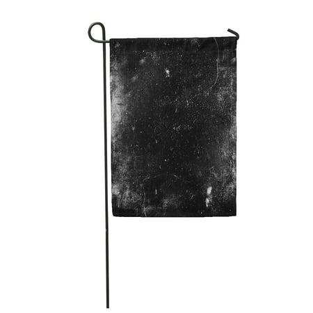 SIDONKU Scratch Scary Grunge Dark Scratched Old Halloween Black White Dirt Abstract Horr Garden Flag Decorative Flag House Banner 12x18 inch](Halloween Dirt)