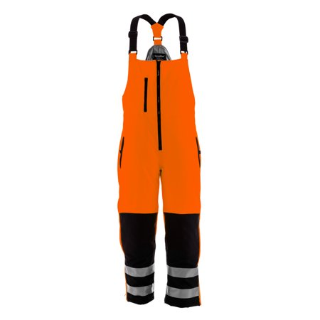 RefrigiWear Mens High Visibility Reflective Insulated Softshell High Bib Overall