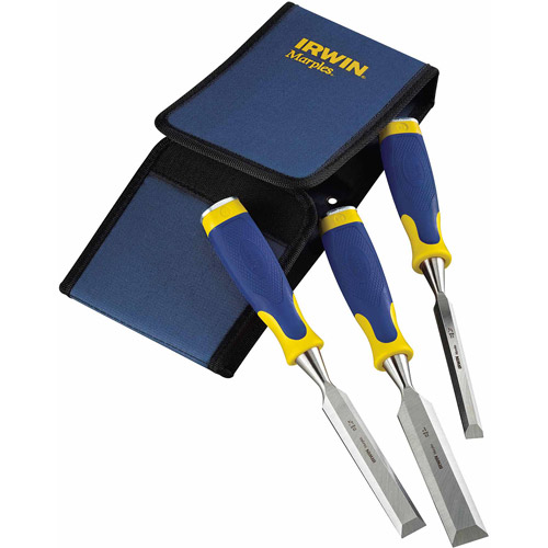 Irwin 1768781 Marples 3-Piece Chisel Set with ProTouch Handles and Strike Cap Sets by Irwin Industrial Tool