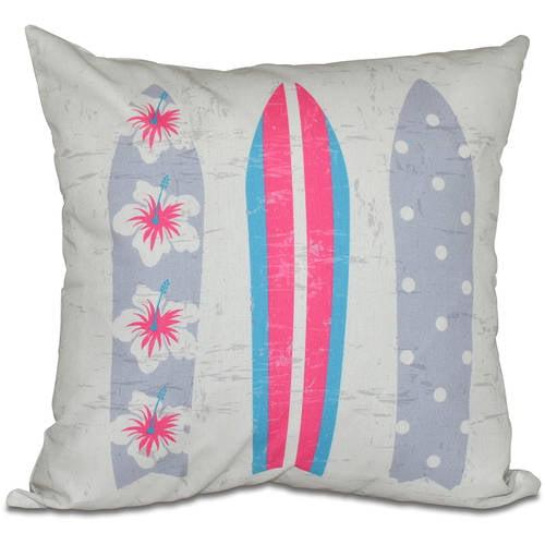 "Simply Daisy 16"" x 16"" Triple Surf Geometric Print Pillow"